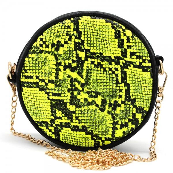 60407e39b09 T-I6.1 BAG322-001 Combination Bum-Shoulder Bag Snake incl Belt 14x14x6cm  Yellow