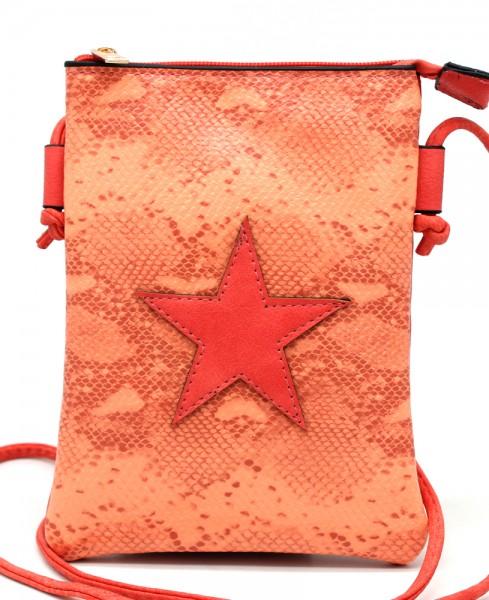 de4e7c20899 T-O2.2 BAG326-001 PU Festival Crossbody Bag Snake with Star 20x15cm Red