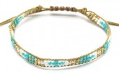 B-C19.2 B2039-017B Bracelet with Glassbeads Brown-Multi