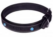 H-F24.1 MTDC-004 Leather Dog Collar Black L 58x2.5cm