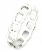 E-C16.3 R2019-001 Metal Chain Ring Mixed Sizes Silver