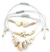 E-A3.1 B2001-052A Bracelet Set 3pcs Shells Grey