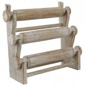R-J8.1 50006 Wooden Display 3 layers 27x29x13cm White