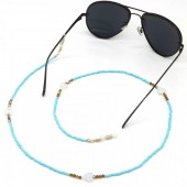 D-B18.3 GL593 Sunglass Chain Beads and Glass Leaves