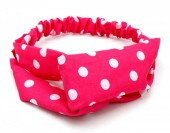 S-D3.1  H039-002 Headband with Polka Dots Pink