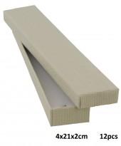 K-F4.1 Giftbox for Bracelet 4x12x2cm Grey  12pcs