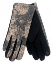 R-K7.2 GLOVE403-076D Glove Flowers Grey