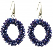 A-D15.2 E007-001 Facet Glass Beads 4.5x3.5cm Blue