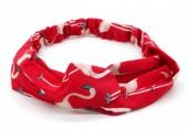 S-I2.2  H039-008 Headband with Flamingos Red