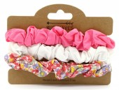 E-C24.2 H016-004 Elastics Set 3pcs White-Pink