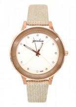 E-A16.1 WA001-014 Quartz Watch with PU Strap 35mm Brown