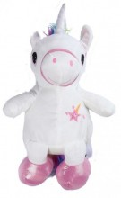 Y-F2.3 BAG416-004A Plush Backpack Unicorn White