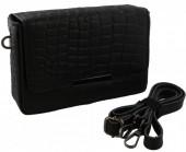 S-B5.1 BAGE-1027 Leather Bag Croco 20x13x6cm Black