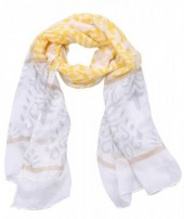 S-K4.2 S312-002 Scarf with Baroque Print 85x180cm Yellow