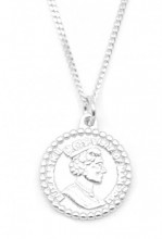 C-A17.1 SN104-204 925S Silver Necklace 12mm Coin
