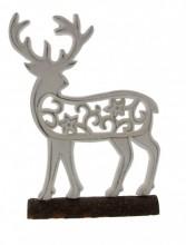 K-F7.2 Wooden Reindeer 26x17x4cm White