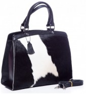 Q-I8.2 BAG-795 Luxury Leather Bag 36x30x12cm Black with mixed color Cowhide