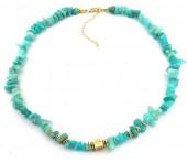 E-D21.2 N2019-022G Necklace Amazon Stones Gold