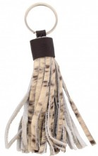 A-A23.2 Keychain Cowhide Tassels 12cm Mixed Colors Cowhide