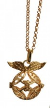 A-C17.3  Angel Catcher Necklace Gold 16mm