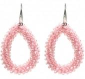 F-D8.4  E007-001K Facet Glass Beads 4.5x3.5cm Pink