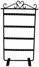 R-A4.2 PK424-020 Metal Earring Display for 24 pairs 30x15.5cm Black