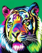 R-P6.2 S139 Diamond Painting Set Tiger 40x50cm