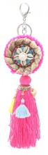 H-A22.1 KY536-126A Keychain Tassel and Shell 20cm Pink