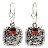 G-E5.2 E2019-036S Earrings Coin 1.5x3cm Silver