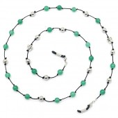 B-E10.2 GL791 GL791 Sunglass Chain Buddha and Stones Green