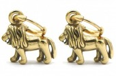 B-C17.2 E2011-001G S. Steel 10mm Earring with 17mm Lion Gold