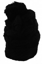 Y-A6.4 Knitted Beanie with Pompon Black