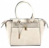 Y-D1.2 BAG121-002 Luxury PU Bag Grey 42x27cm