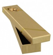 T-G6.2 Giftbox for Bracelet or Watch 20.5x4.5x2.5cm Gold with Bow