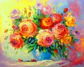 T-L3.1 RSB8409 Diamond Painting Set Flowers 50x40cm