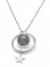 B-F17.5 SN104-404 925S Silver Necklace Stone and Star