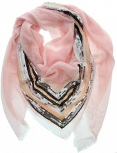K-D3.2 S005-002 Luxury Scarf with Sequins 140x140cm Pink