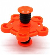 Spring With Flip Top Spinner Mixed Design Orange