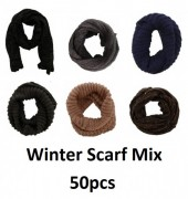 Thick Winter Scarves Mix 50pcs