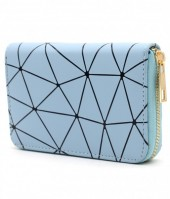 WA214-002 Wallet with Geometric Design Blue