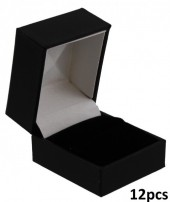 K-B2.1 220529 Luxury PU Gift Box for Rings 46x38x51mm 12pcs
