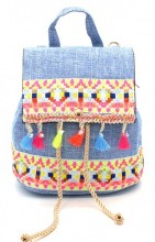 T-D3.1  BAG027-003 Trendy Backpack Ibiza 20x18x14cm Blue