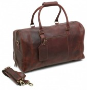 Z-C1.5 Vintage Leather Duffle Bag 45x34x20cm Dark Brown