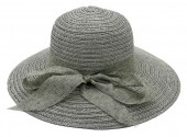 Y-E6.3 HAT210-027D Hat with Bow 39cm for Kids Grey