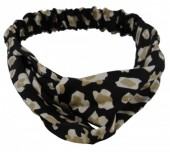 S-J7.2 H305-144A2 Headband Leopard Print Black