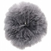 S-E3.5  H414-004C Fluffy Scrunchie Large Grey