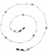 B-F4.2 GL473 Sunglass Chain with Balls and Pearls Grey