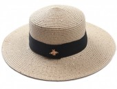 Q-E6.2  HAT504-002C Hat with Glitters and Bee Khaki