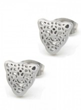 A-D15.2E1842-010 Stainless Steel Studs 8mm Leopard Silver