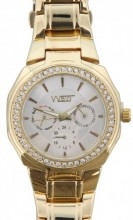 E-E6.3 Quartz Watch with Crystals Gold 30mm